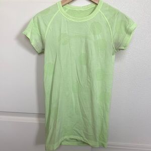Neon green Lululemon Swiftly Tech short sleeve